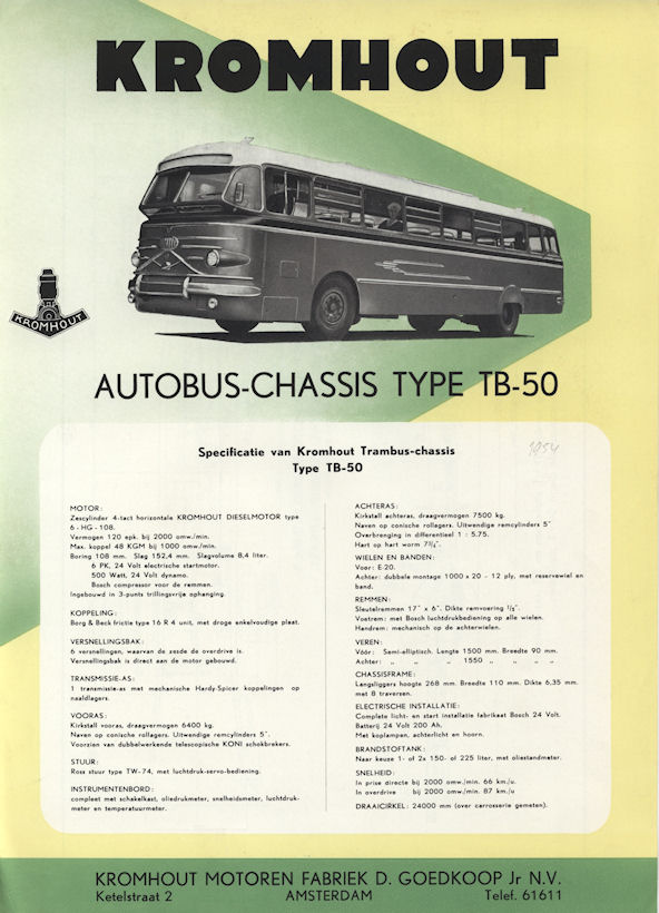 1952 Kromhout Type TB-50