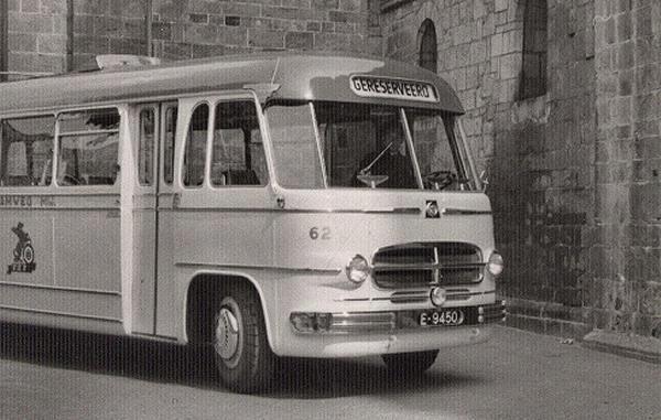 1953 Scania-Vabis 62 met nieuwe carrosserie van Hondebrink uit Almelo. Oorspronkelijk met Zweedse carrosserie vbk