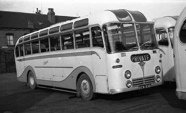1955 Leeds DCN838 was a Guy Arab LUF with a Picktree C35F body  lgdcn838