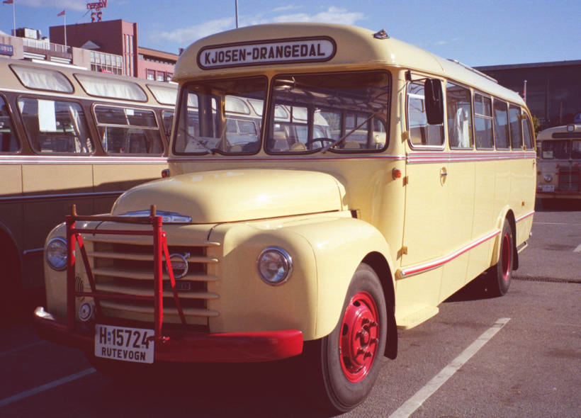 1956 Volvo L375-07 goods chassis with a 29 seat bus body by T. Knudsen.