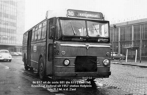 1957 Kromhout verheul bus30 station Hofplein