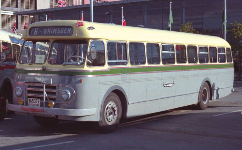 1957 Scania-Vabis B71 with 43 seat coachwork by Larvik