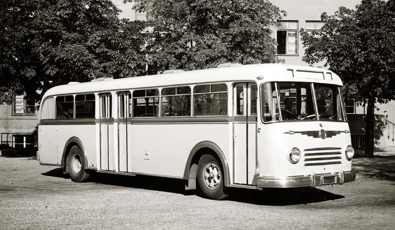 1958 Krauss-Maffei-Postomnibusse des Typs KMO 133