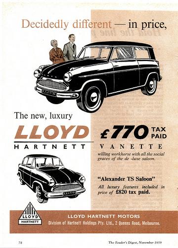 1959 Lloyd-Hartnett (Aus)