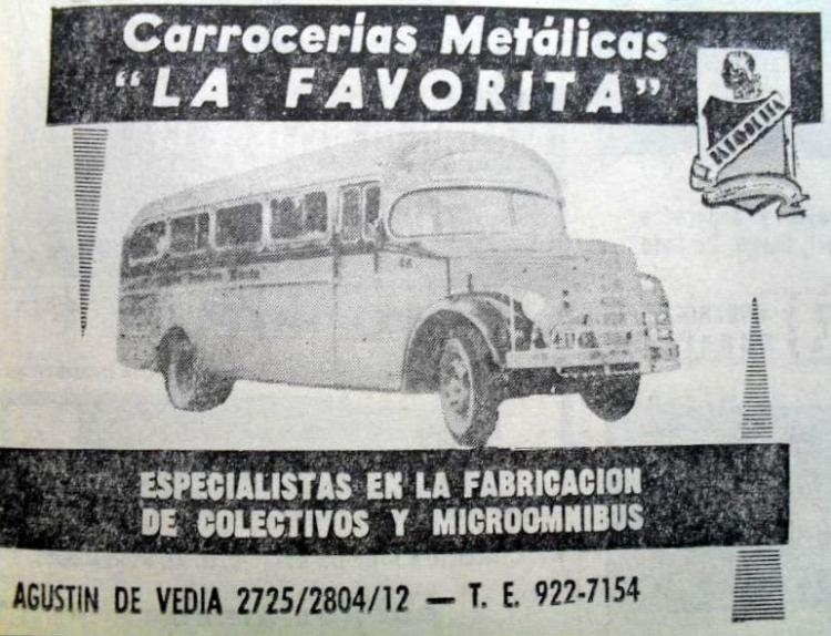 1959 Mercedes-Benz  L 312 483 La Favorita Publicidad