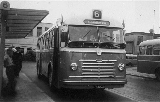 1960 Kromhout Verheul autobus nr. 6 van het G.E.B.R.U. als lijn 6.