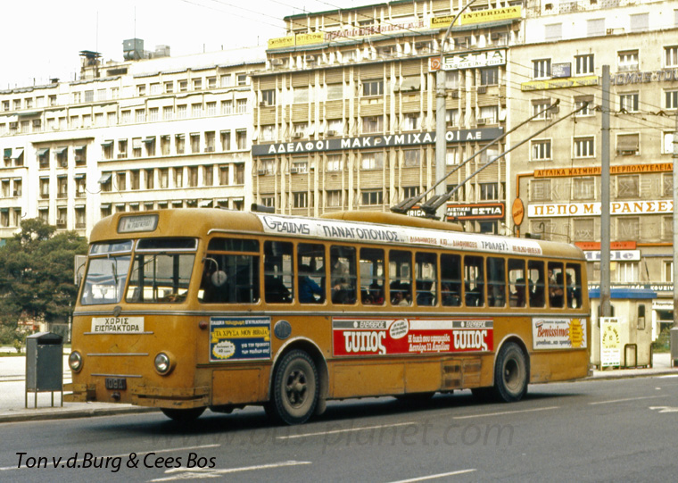 1960 Lancia -Casaro trolleybuses. These Italian buses were built in 1960