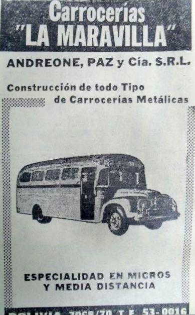 1961 Bedford J6LZ1 Carrocerías La Maravilla