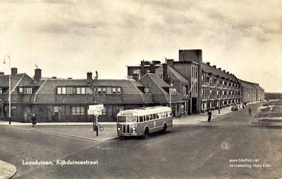 1961 HTM 52 Kromhout-Verheul Buslijn P Kijkduinsestraat Loosduinen