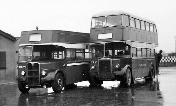 1961 Ledgard JWU131 was an Leyland lowbridge PD2-1 built for Felix Motors in 1950, sold to Ledgard 1962, MDT221, an AEC Regent