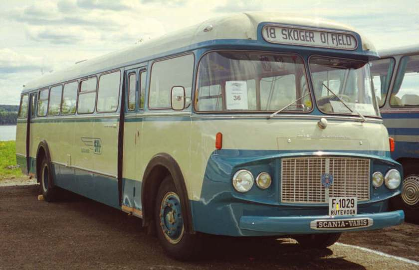1962 F-1029 is a 1962 Scania-Vabis B55-63V with the distinctive bus bodywork of Lier Karosseri