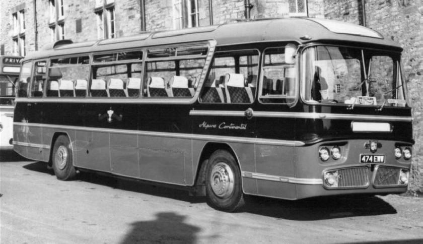 1963-74 Leyland Leopard PSU3 Duple Alpine Continental C49F seats