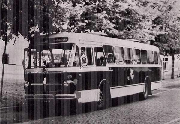 1963 Scania-Vabis 65 met carrosserie van Verheul. Kenteken SB-84-34.