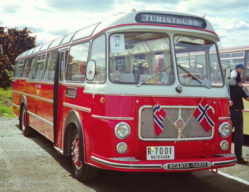 1964 R-7001 is a Scania-Vabis B56-58 with Repstad coach body. It was delivered to HSD in 1964