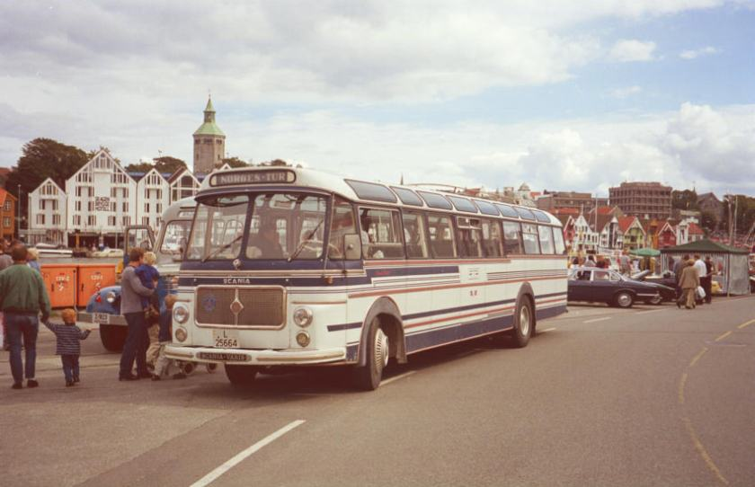 1964 Scania-Vabis B76-63LV with a 12 metre 43 seat coach body built by the Repstad Brothers