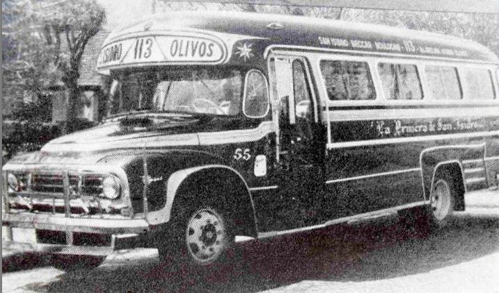 1965 Bedford J6LZ1 - La Estrella - La Primera de San Isidro , linea 113