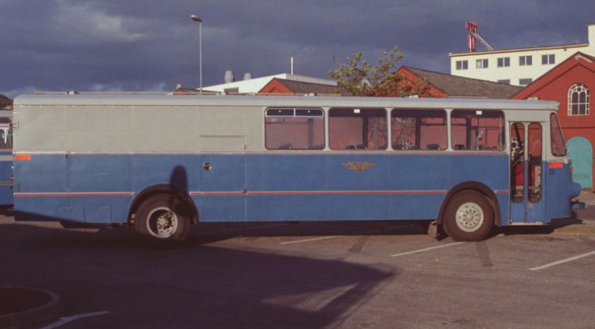 1967 Volvo B57-60 with combined 26 seat bus-goods bodywork by T. Knudsen.