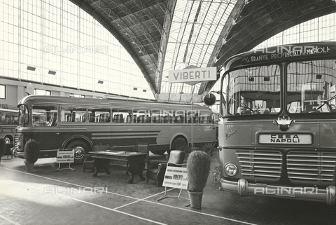 1968 Bus 703 Lancia and Fiat 306 of the company Officine Viberti of Turin