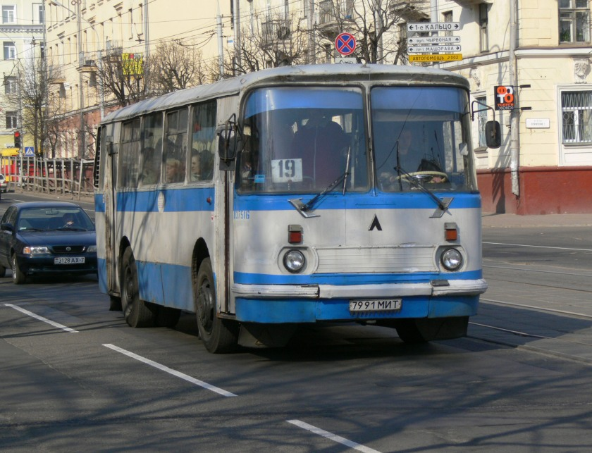 1969 LAZ-695 bus in Minsk