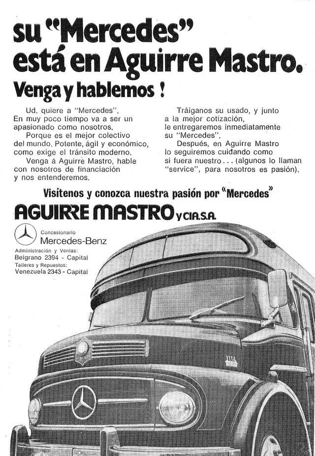1970 Mercedes-Benz LO 1114 - La Favorita AGUIRREMASTRO