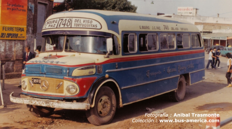 1971 Mercedes-Benz LO 1114 - La Favorita - Transportes Grand Bourg - Anibal Trasmonte