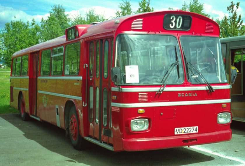 1971 VD22274 is a Scania CR110M with integral bus body.