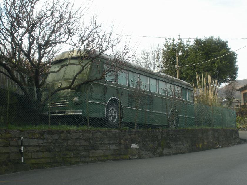 1972 Lancia Genova Struppa old bus in Fontanegli