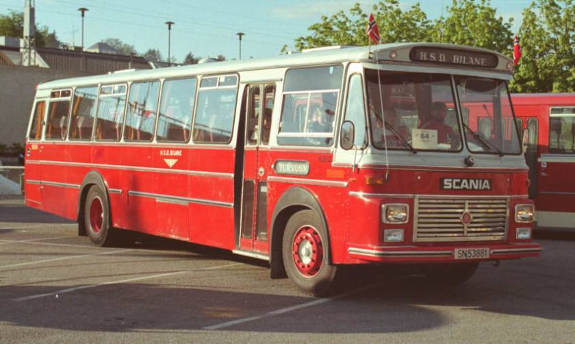 1974 Scania B110-63 with 42 seat coachwork by the Repstad Brothers