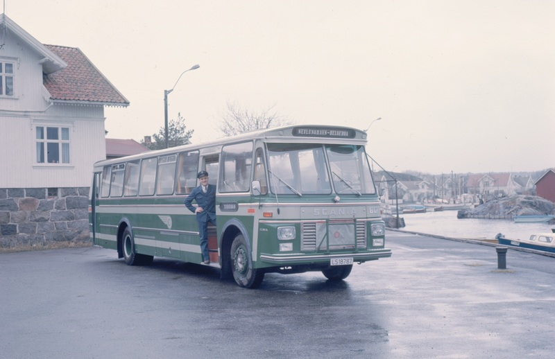 1974 Scania B80-63 mod med karosseri fra Brødrene Repstad Karosserifabrikk BRK i Søgne