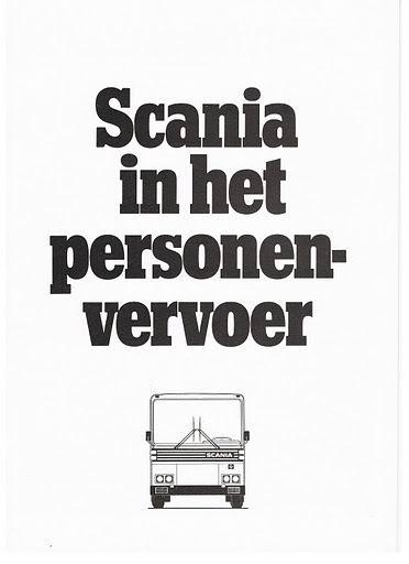 1978 SCANIA BR in het personenvervoer