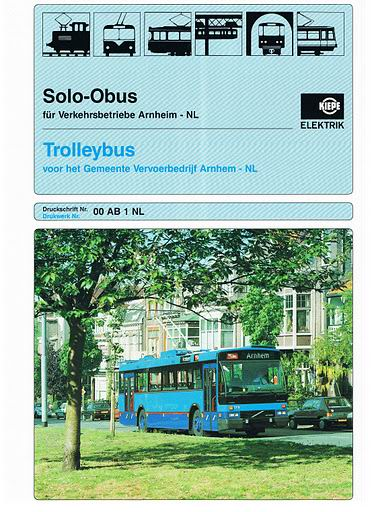 1991 KIEPE ELEKTRIK Trolley Arnhem(238-3'91)
