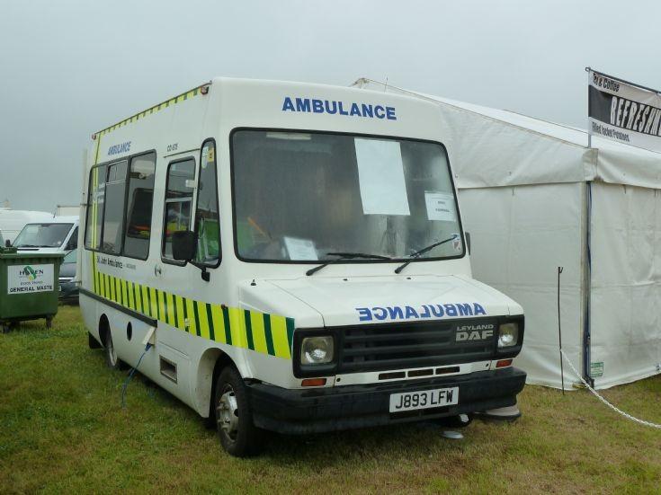 1991 Leyland Daf 400 St John Ambulance This 1991 Leyland Daf 400