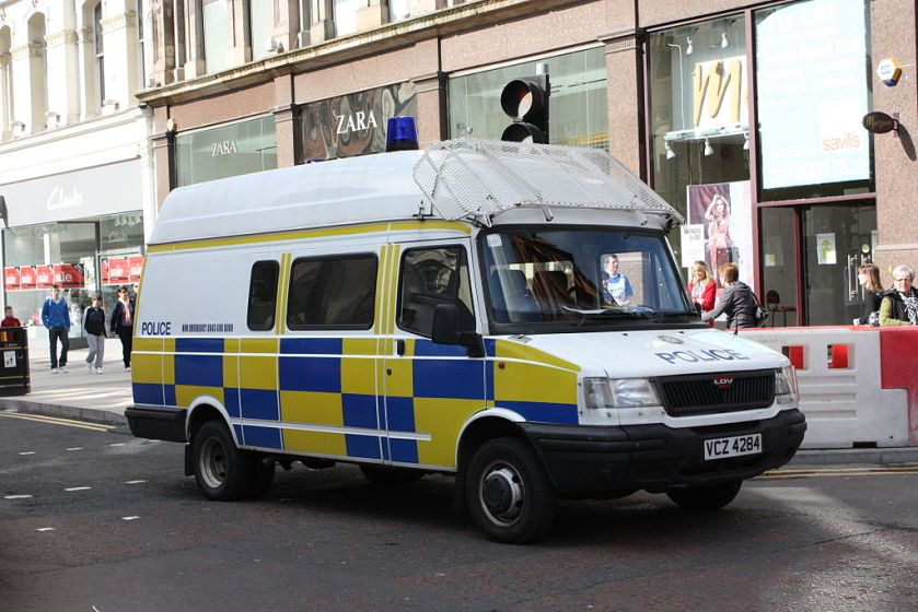 2010 LDV Convoy in politieuitvoering te Belfast
