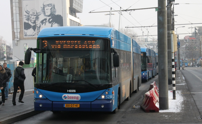 2012 Hess Swisstrolley Arnhem NAW-Hess-ABB BGT-N (type 1), BGT-N2 (type 2), Hess Vossloh Kiepe BGT-N2C (02268) (type 3