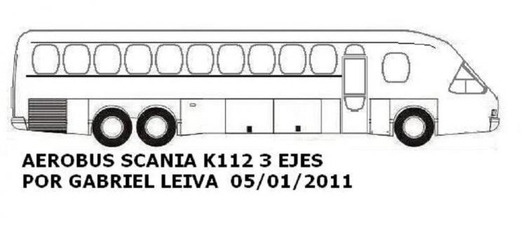 Aerobus Scania K112 Argentina 1987h