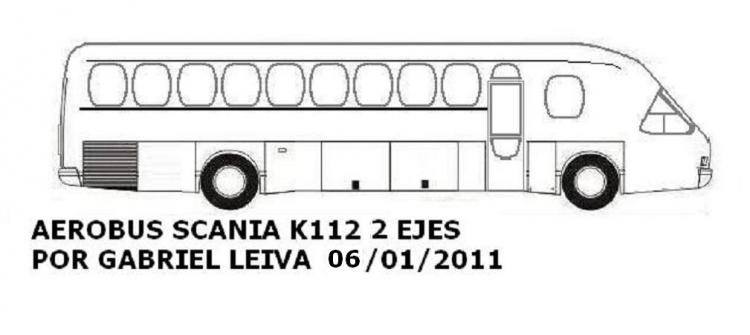 Aerobus Scania K112 Argentina 1987j