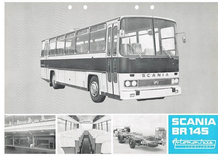 Bussen SCANIA BR145+Automontaza 1973