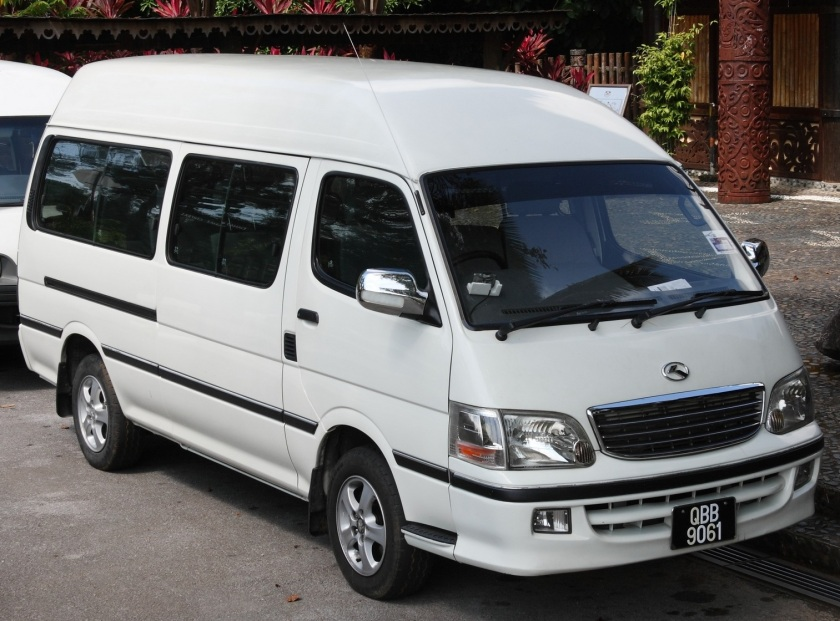 King Long van in Malaysia