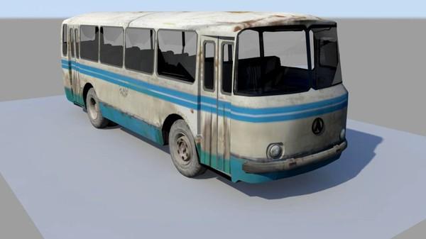LAZ 3d model old bus laz b