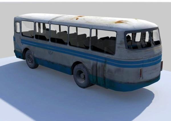 LAZ 3d model old bus laz