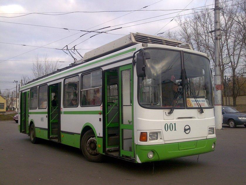 LiAZ-5280 trolleybus in Kursk Russia