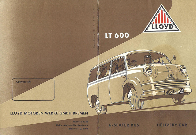 Lloyd LT-600 6-Seater Bus and Delivery Car
