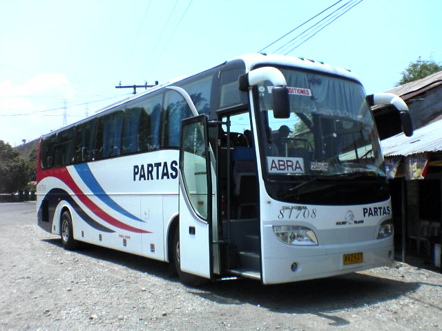 One of the Golden Dragon buses operating in the Philippines with the Partas Transportation Co. Inc..