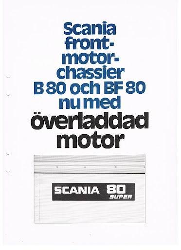 SCANIA B80+BF80super boekje