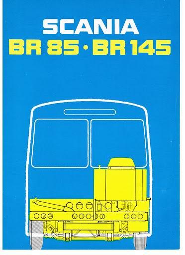 SCANIA BR85 BR145 boekje