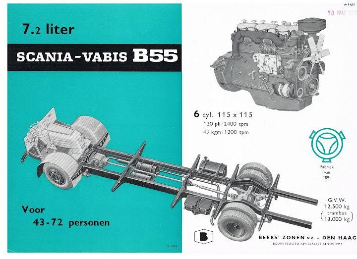 SCANIA-VABIS B55 (S-1844) Motor