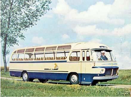 Scania Vabis type B71.53 met een 6 cilinder frontmotor type D631 van 150 PK Tet020