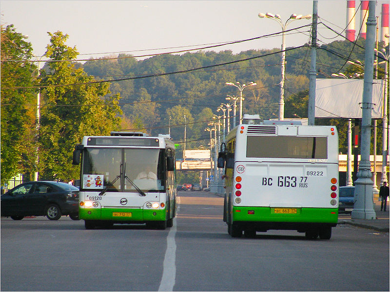 Two LiAZ-5292.20 buses in Moscow