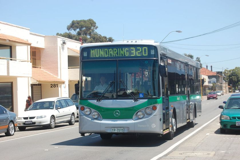 09 Transperth Volgren bodied O405NH on Great Eastern Highway in Perth