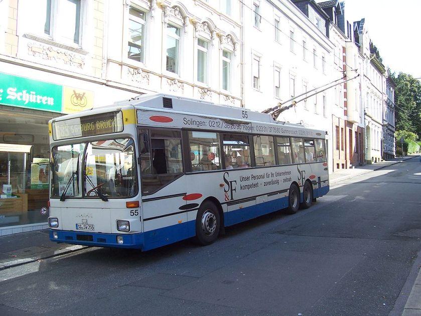 105 Oberleitungsbus des Typs MAN SL 172 HO der Stadtwerke Solingen